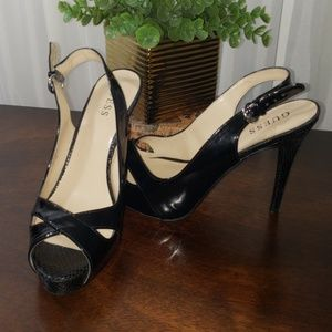 Slingback Patent Leather Pumps